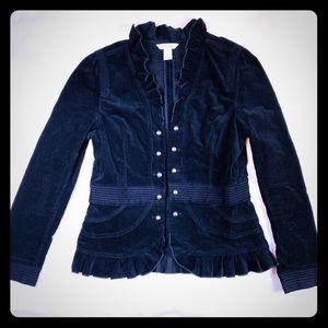 White House Black Market Corduroy Military Jacket